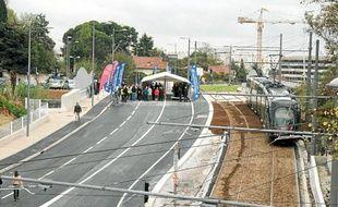Le pont des Payroliers, le plus gros chantier avec le pont de la Mosson.