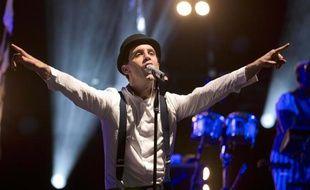 Le chanteur Mika, en concert à Nice le 18 Juillet 2012.