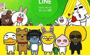 Les services de messagerie instantanée Line (Japon) et KakaoTalk (Corée) comptent plus de 220 millions d'utilisateurs chacun et des centaines de stickers qui font en partie leur succès