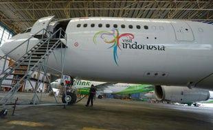 Un Airbus A330, à l'aéroport Sukarno-Hatta à Tangerang en Indonésie, le 4 avril 2013