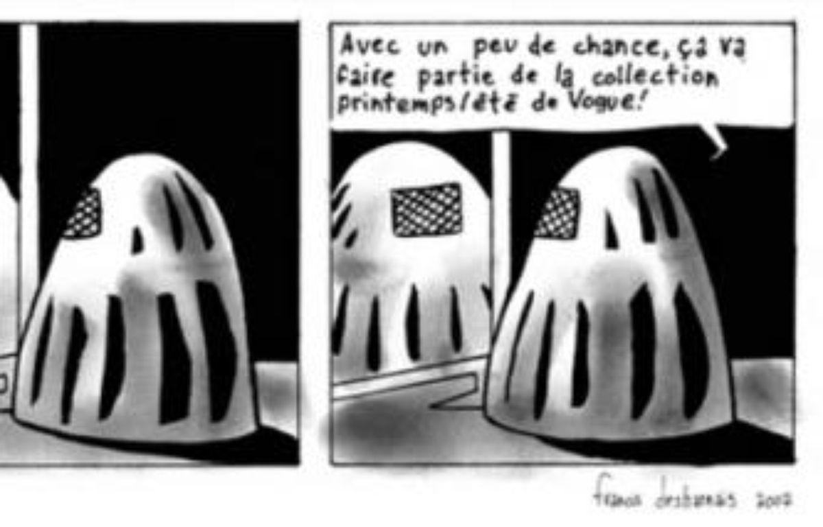 """Strip extrait de """"Burqa"""", une BD signée Francis Desharnais – DR/Francis Desharnais"""