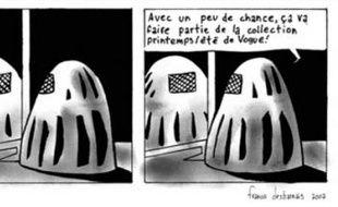 """Strip extrait de """"Burqa"""", une BD signée Francis Desharnais"""