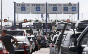 Illustration d'un blocage du port de Calais, le 29 juin 2015.