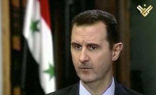 Bachar al-Assad lors de son interview à la chaîne Al-Manar, le 30 mai 2013.