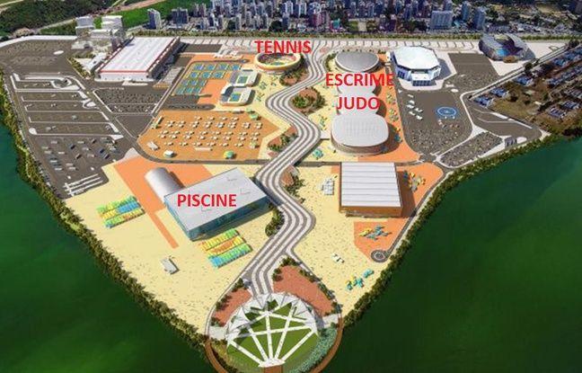 Le parc olympique (ça parait petit comme ça mais c'est assez gigantesque en fait)