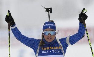Dorothea Wierer s'impose sur la mass-start de ces championnats du monde.