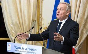 Jean-Marc Ayrault, le 20 janvier 2014 lors de ses voeux à la presse.