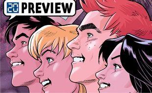Les héros du comic consacré à Archie et à la ville de Riverdale