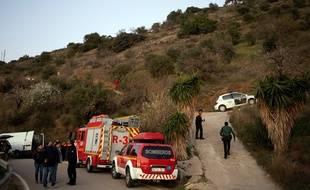 Les recherches continuent pour tenter de retrouver le petit garçon de 2 ans tombé dans un puits à Totalan près de Malaga, le 13 janvier 2018.