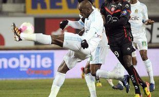 Le défenseur marseillais Souleymane Diawara, le 18 février 2012, au Stade Vélodrome.