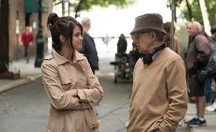 Selena Gomez et Woody Allen sur le tournage de «Un jour de pluie à New York»