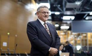 René Marratier, l'ancien maire de La Faute-sur-Mer, au procès de la tempête Xynthia aux Sables-d'Olonne, le 17 octobre 2014