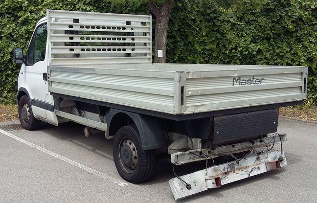 Le camion dans lequel l'argent a été découvert