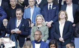 La nouvelle présidente de la LFP, Nathalie Boy de la Tour, au Parc des Princes lors de PSG-Caen.
