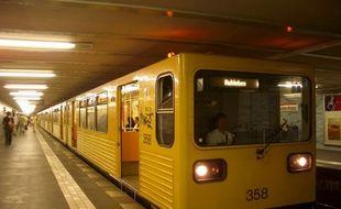 Le métro de Berlin, en Allemagne (illustration).