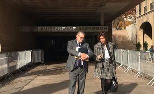 Martine Vassal et Bruno Gilles devant le conseil municipal