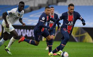 Durant le match OM-PSG, au stade Vélodrome de Marseille, le 7 février 2021.