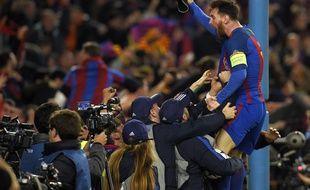 Messi, après la victoire du FC Barcelone face au PSG (6-1), le 8 mars 2016.