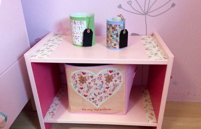 diy comment transformer un meuble en kit pas glop en une adorable table de nuit. Black Bedroom Furniture Sets. Home Design Ideas