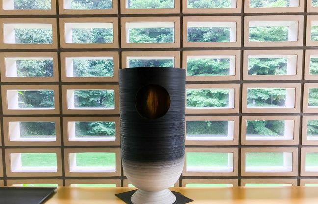 La «Coupe Jacques Chirac» de sumo est désormais exposée à l'ambassade de France à Tokyo.