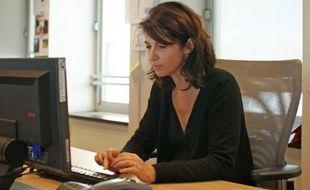 L'actrice et réalisatrice Zabou Breitman, lors d'un chat à la rédaction le 16 novembre 2011