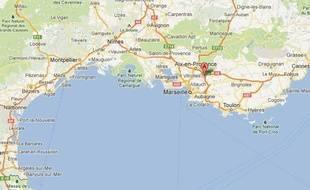 Google map des Bouches-du-Rhône
