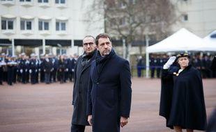 Le ministre de l'Intérieur Christophe Castaner et le secrétaire d'Etat Laurent Nunez ici en janvier 2020 à l'Ecole nationale supérieure de police à Cannes-Ecluse (77).