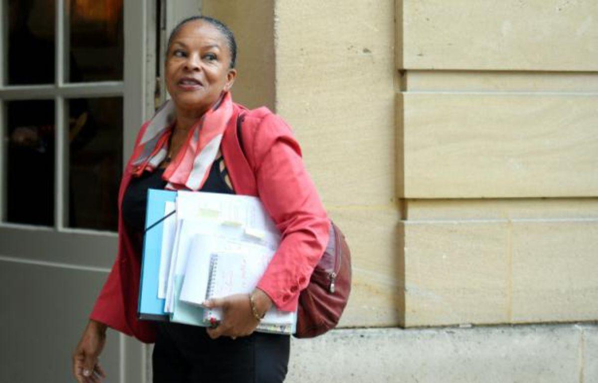 La ministre de la Justice, Christiane Taubira, le 6 janvier 2016 à Matignon – MARTIN BUREAU AFP