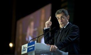 Nicolas Sarkozy à Saint-Maur-des-Fossés (Val de Marne), le 14 novembre 2016.