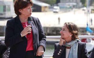 Martine Aubry et Ségolène Royal, le 12 juin 2012 à La Rochelle.