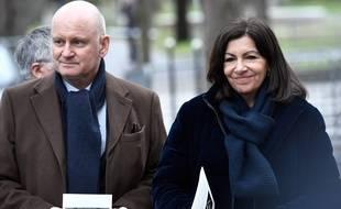 Christophe Girard et Anne Hidalgo en février 2019.
