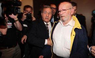 Jean-Claude Mas, le  fondateur de l'entreprise de prothèse PIP, lors de son procès à Marseille, en avril 2013.