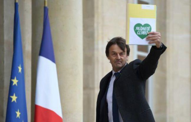 Nicolas-Hulot à son arrivée le 29 novembre 2015 à l'Elysée