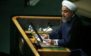 Le président iranien Hassan Rohani à la tribune de l'Onuj, le 28 septembre 2015 à New York