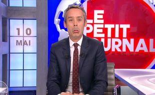 Le présentateur Yann Barthès dans le «Petit journal» du 10 mai 2016