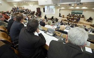 Le conseil général de Loire-Atlantique, le 31 mars 2011.