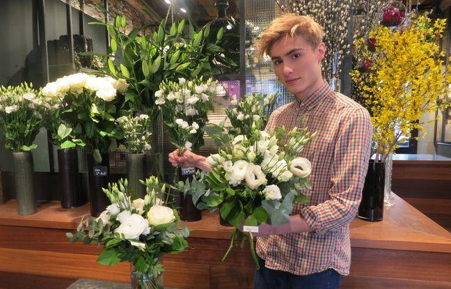 «J'ai une tête, et pas que des mains!» Audric, 21 ans, est le meilleur jeune fleuriste de France