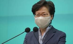Carrie Lam, la cheffe de l'exécutif de Hong Kong, nommée par Pékin.