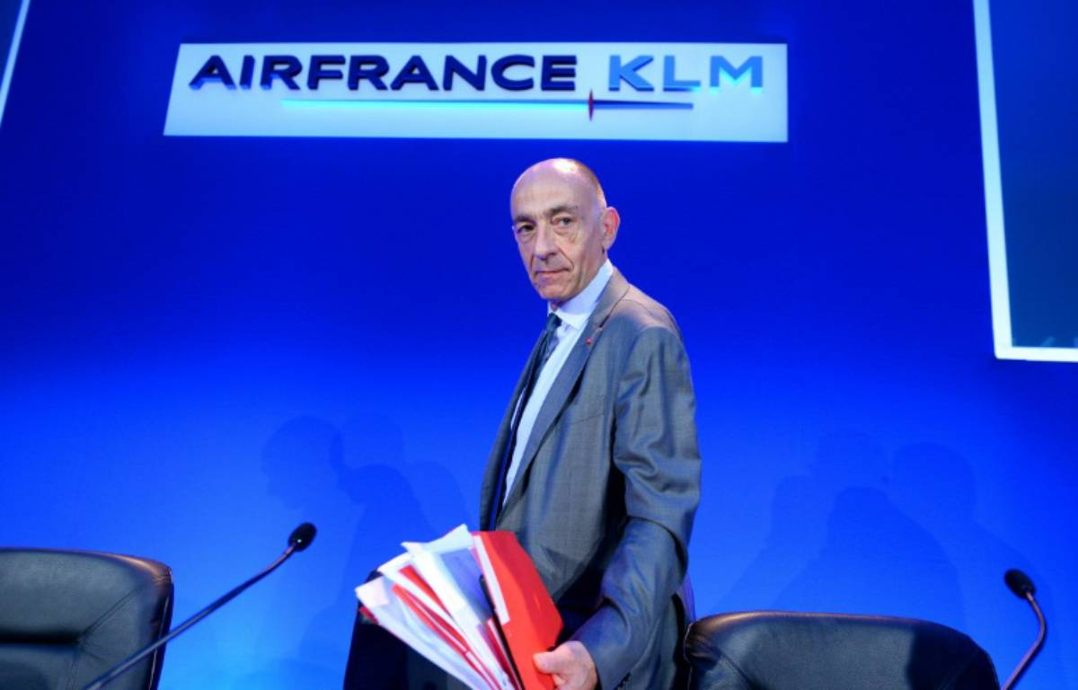 Le nouveau PDG du groupe Air France-KLM Jean-Marc Janaillac le 27 juillet 2016 à Paris – ERIC PIERMONT AFP