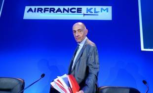 Le nouveau PDG du groupe Air France-KLM Jean-Marc Janaillac le 27 juillet 2016 à Paris