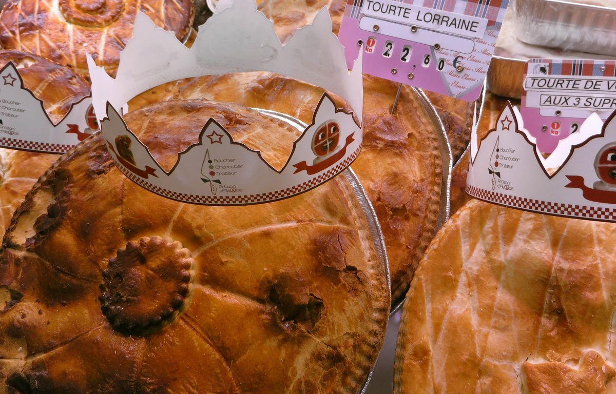 Les bouchers-charcutiers-traiteurs d'Alsace ont lancé la «tourte des rois» avec une fève et une couronne. – F. Hernandez / 20 Minutes