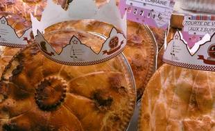 Les bouchers-charcutiers-traiteurs d'Alsace ont lancé la «tourte des rois» avec une fève et une couronne.