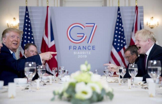 G7 à Biarritz: Donald Trump loue les compétences de Boris Johnson et lui promet un futur «grand accord commercial»