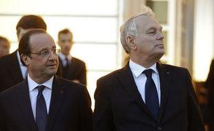 François Hollande et Jean-Marc Ayrault, le 27 mars 2014.
