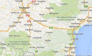Google Map de Toulouse.
