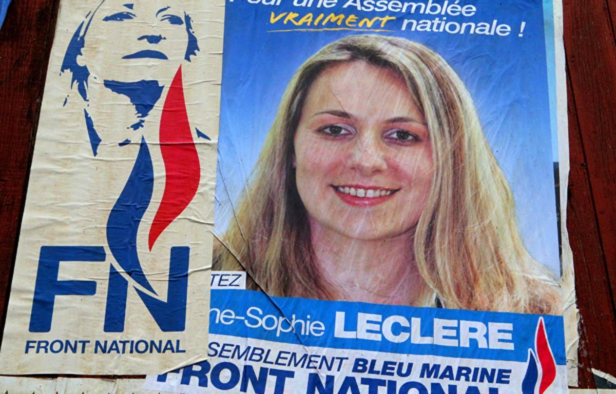 Une photo d'Anne-Sophie Leclere, tête de liste aux municipales 2014 à Rethel. – FRANCOIS NASCIMBENI / AFP