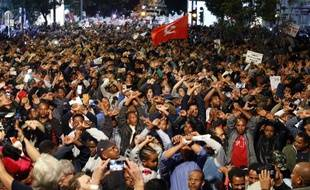 Une manifestation de solidarité avec des milliers de migrants africains qu'Israël se prépare à expulser s'est tenue le 24 février 2018 à Tel Aviv, en Israël.
