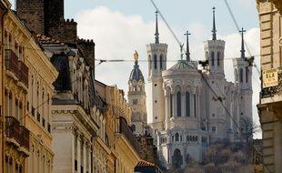 La baslique de Fourvière de Lyon, le 7 mars 2013. CYRIL VILLEMAIN/20 MINUTES