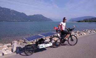 Romain Neauport a parcouru 12 000 km en vélo solaire