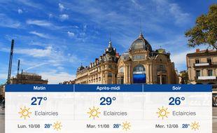 Météo Montpellier: Prévisions du dimanche 9 août 2020